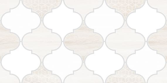 1641-8627 Настенная плитка декор3 Мореска 20х40 бежевая