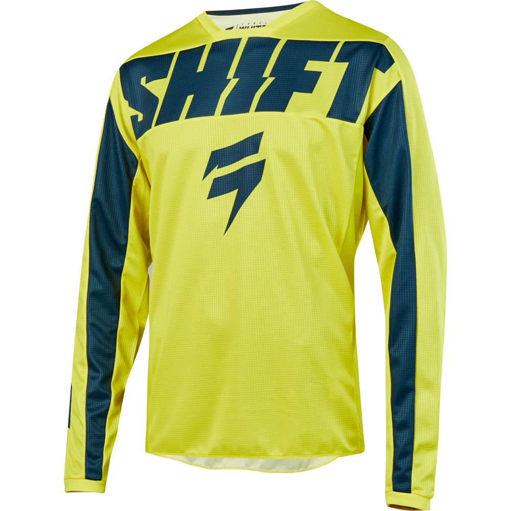 Shift - 2019 Whit3 Label York Yellow/Navy джерси, желто-синее