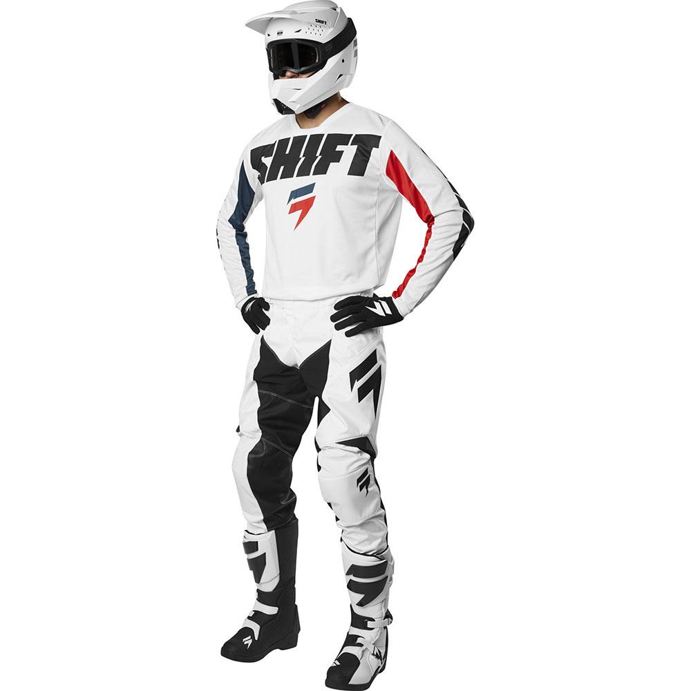 Shift - 2019 Whit3 Label York White комплект джерси и штаны, белые