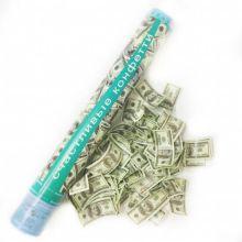 Хлопушка Счастливые конфетти в виде долларов, 60 см