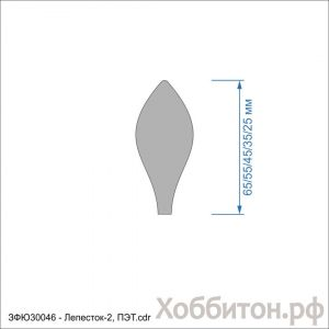 `Набор шаблонов ''Лепесток-2'' , ПЭТ 0,7 мм