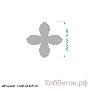 Набор шаблонов ''Цветок-2'' , ПЭТ 0,7 мм (1уп = 5наборов)