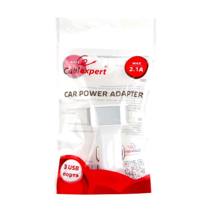 Автомобильный адаптер питания Cablexpert, MP3A-UC-CAR17, 3-USB, 4.1A