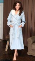 Женский велюровый халат с капюшоном Violetta , Five Wien