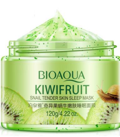 Несмываемая минеральная ночная маска «BIOAQUA» с экстрактами киви и улитки.(6032)
