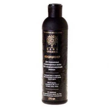 Нано Органик - Кондиционер-ополаскиватель для окрашенных и поврежденных волос, 270мл