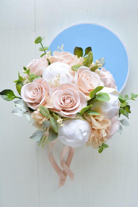 Букет невесты в пудровом цвете- Blush wedding