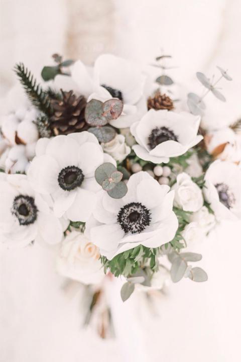 """Букет невесты """"Белые анемоны"""""""