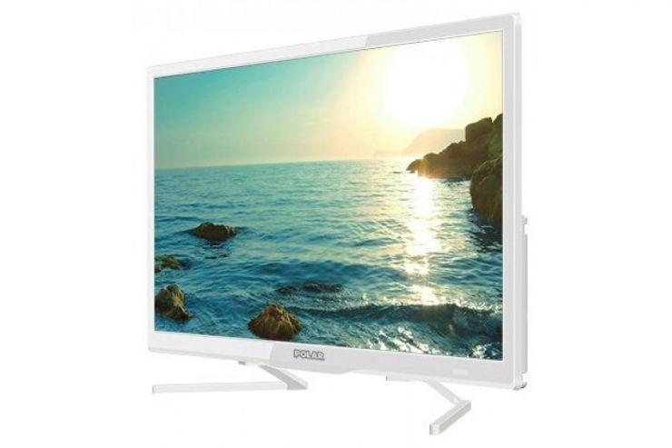 """Телевизор 28"""" Polar P28L34T2C белый: 1366x768, 178°, DVB-C/T/T2, 16Вт, 3xHDMI, 2"""