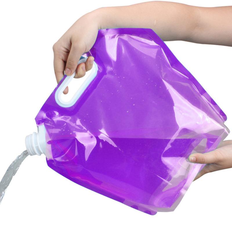 Складная канистра для воды 3 л (цвет фиолетовый)