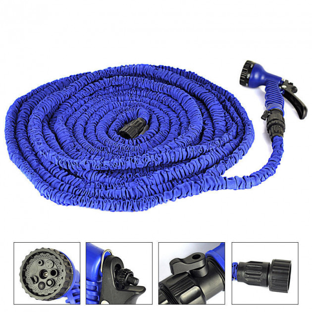 Шланг Водяной Xhose (Икс Хоуз), 45 М, Цвет Синий