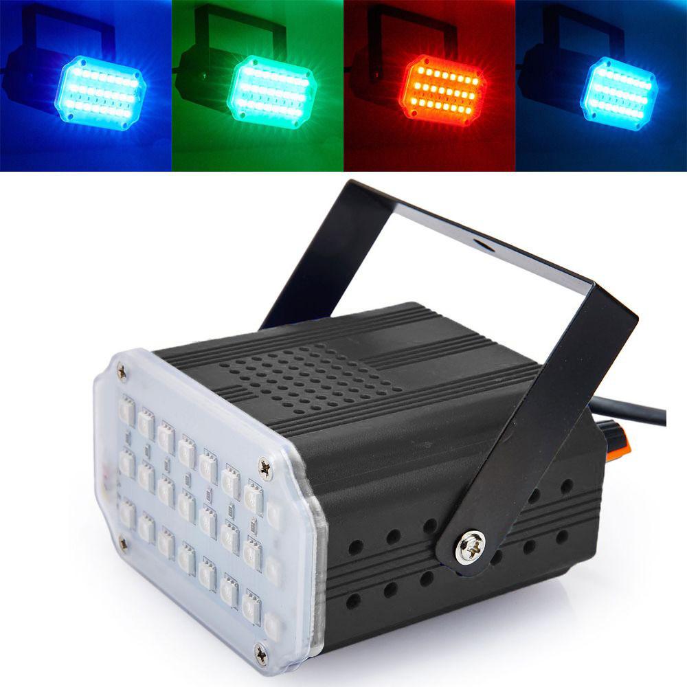Комнатный Мини-Стробоскоп Mini Room Strobe 24 LED, Цвет Черный