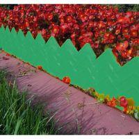 Бордюр для клумб 14х310 см 13 секций (цвет зелёный)_2