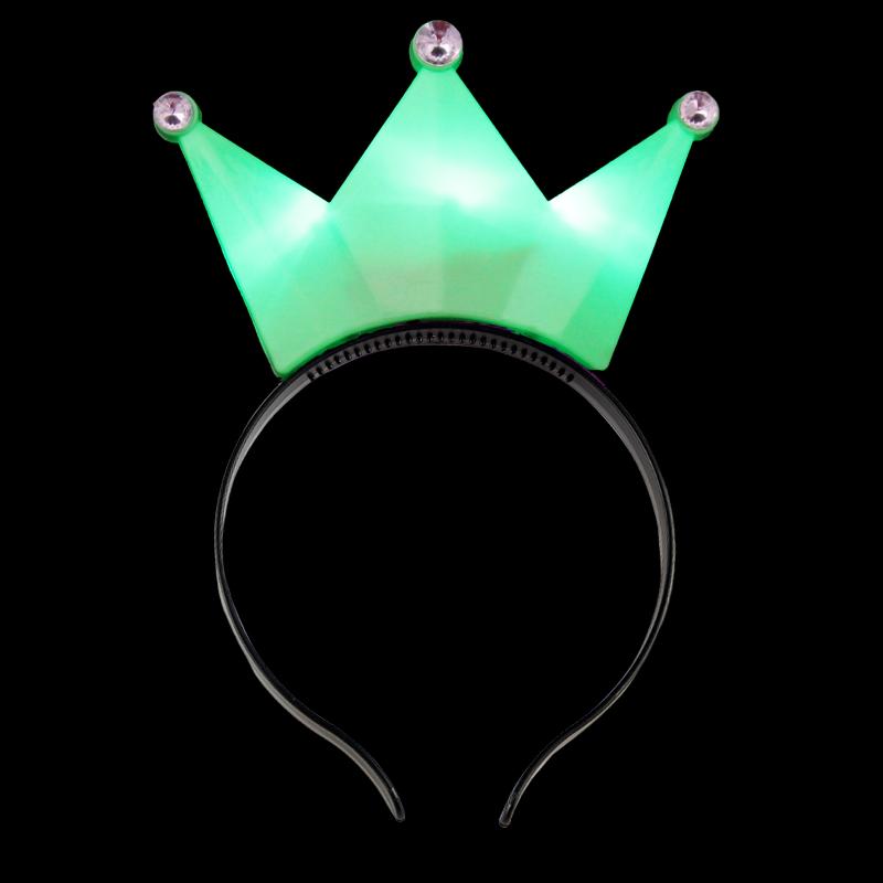 Светящийся Ободок Корона, Цвет Зеленый