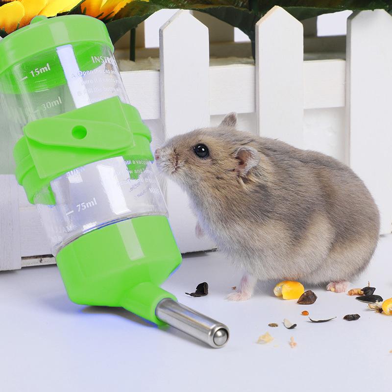 Автопоилка С Креплением К Клетке Для Мышей И Хомячков, 80 Мл, Цвет Зеленый