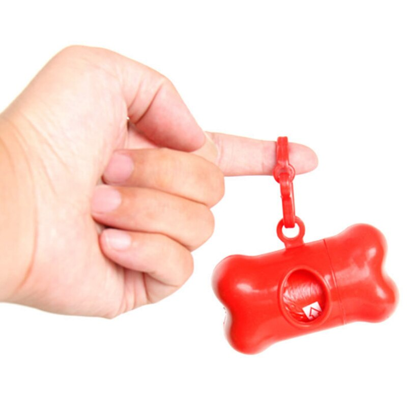 Органайзер Для Гигиенических Дог-Пакетов Кость, Цвет Красный