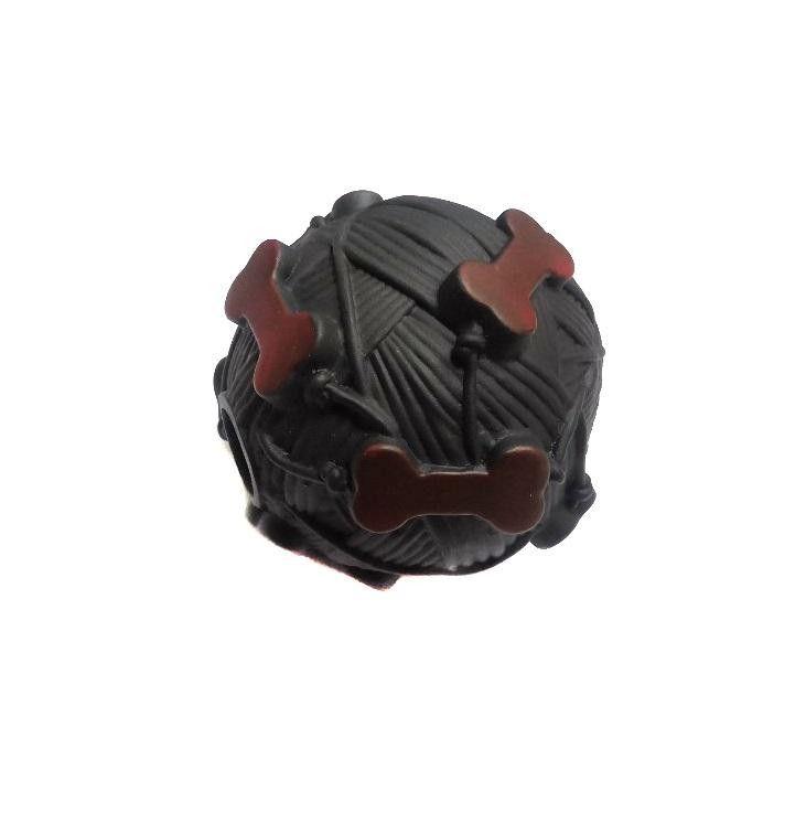 Звуковая Игрушка Для Собак Мячик С Отверстием Для Лакомства, 9 См, Цвет Коричневый