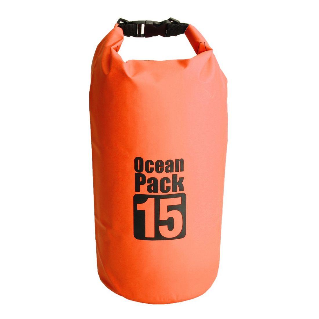 Водонепроницаемая Сумка-Мешок Ocean Pack, 15 L, Цвет Оранжевый
