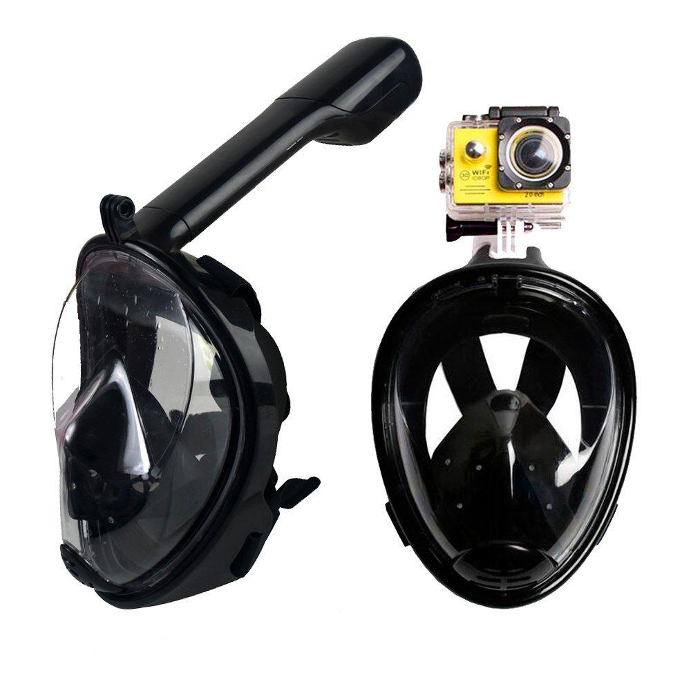 Маска Для Снорклинга Freebreath С Креплением Для Экшн-Камеры, Цвет Черный, L/Xl