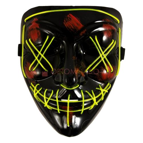 Неоновая маска Судная ночь, Цвет: Желтый