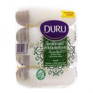 Мыло класс(э/пак) DURU Pure&Nat 4*85г /24