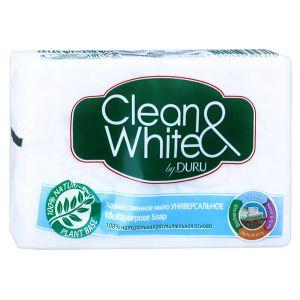 Мыло хозяйственное DURU Clean&White 125 Отбеливающее /48