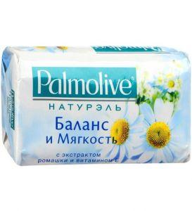 Палмолив мыло Натурэль Баланс и Мягкость с экстрактом ромашки 4*90г /18