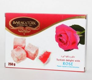 Рахат-лукум 250гр со вкусом розы