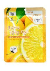 Маска-салфетка 23гр с экстрактом лимона (Lemon) /100/600 шт 3W Clinic