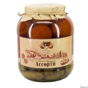 АССОРТИ овощное консервированное 1500 мл ст/б Сыта Загора