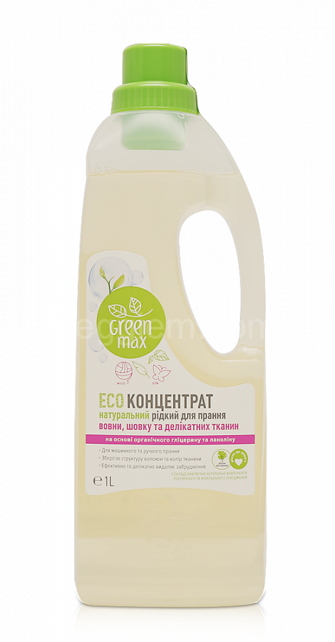 ЭКОконцентрат жидкий натуральный для стирки шерсти, шелка и деликатных тканей,1л
