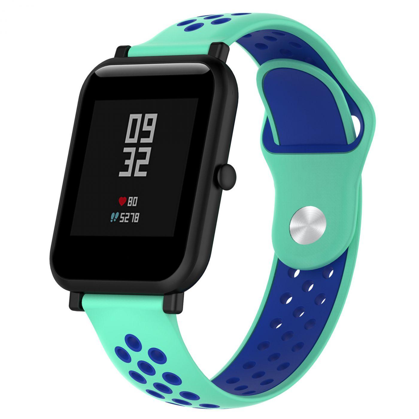 Сменный ремешок для Умных часов  Amazfit Bip Smartwatch (Зеленый - Синий)