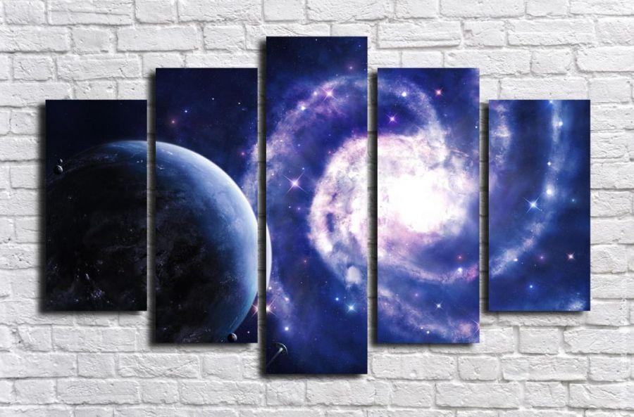 Модульная картина Космос 6