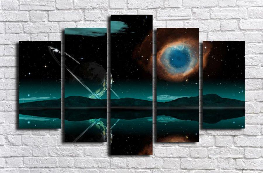 Модульная картина Космос 8