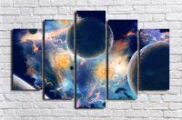 Модульная картина Космос 10