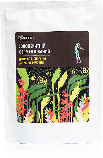 Солод ржаной ферментированный молотый - 150г (Новая упаковка)