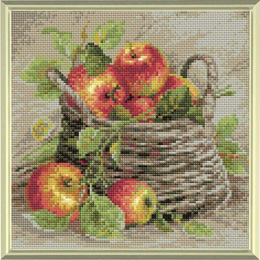 Набор для выкладывания стразами Спелые яблоки АМ0015 фирма Риолис