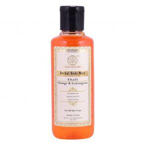 """Гель для душа """"Апельсин и Лимонник"""" Кхади (Orange & Lemongrass Body Wash, Khadi) 210 мл"""