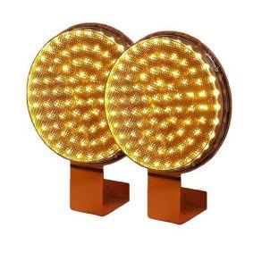 Желтая сигнальная лампа 200мм комплект 2 штуки