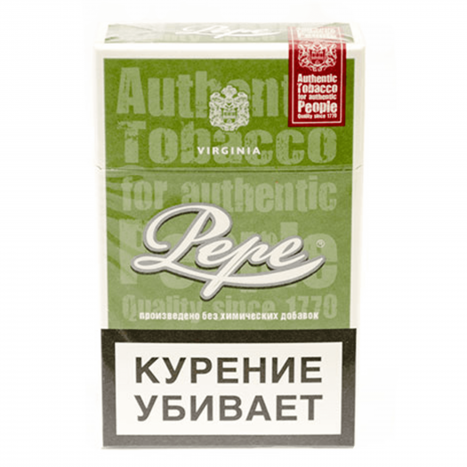Сигареты Pepe Rich Green