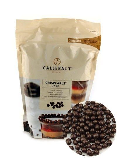 Шоколадные тёмные шарики (криспи) Callebaut, 60гр.