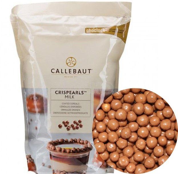 Шоколадные молочные шарики (криспи) Callebaut, 60гр.