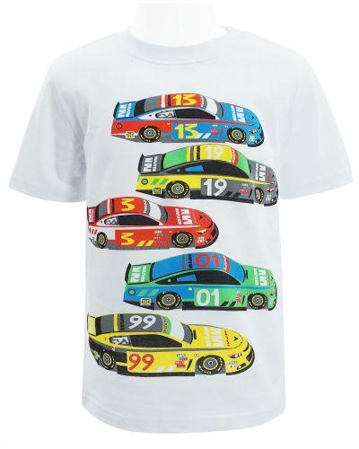 """Футболка для мальчика Dias kids """"Cars"""" 4-8 лет белая"""
