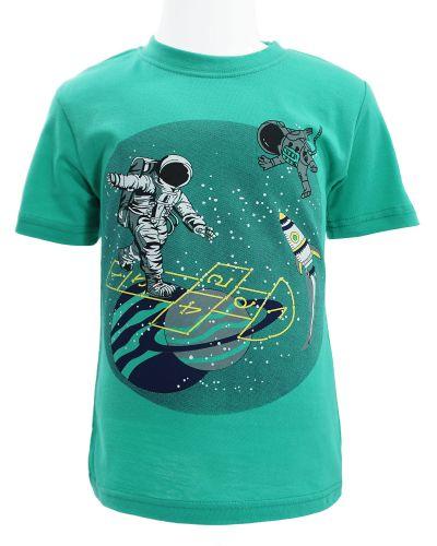 """Футболка для мальчика Dias kids """"space game"""" 4-8 лет бирюзовая"""