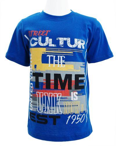 "Футболка для мальчика Dias kids ""The Time"" 4-8 лет синяя"
