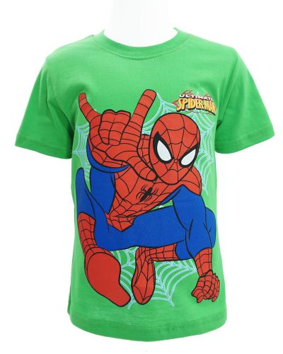 "Футболка для мальчика Dias kids ""Spiderman"" 4-8 лет зеленая"