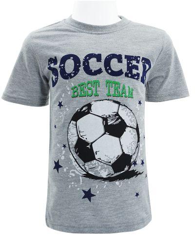 """Футболка для мальчика Dias kids """"Soccer"""" 4-8 лет серая"""