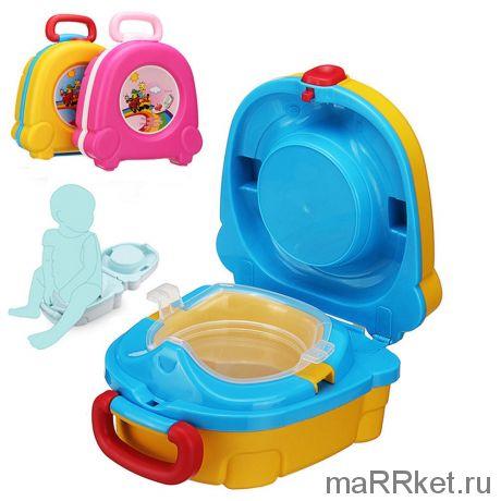 Портативный складной детский горшок-чемоданчик Тhe Handy Potty
