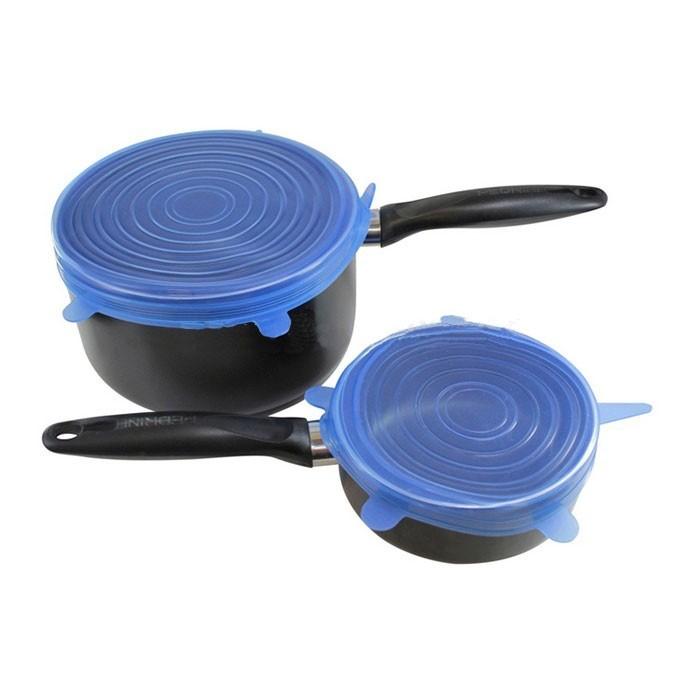 Силиконовые Крышки Silicone Sealing Lids, 6 Шт, Цвет Синий