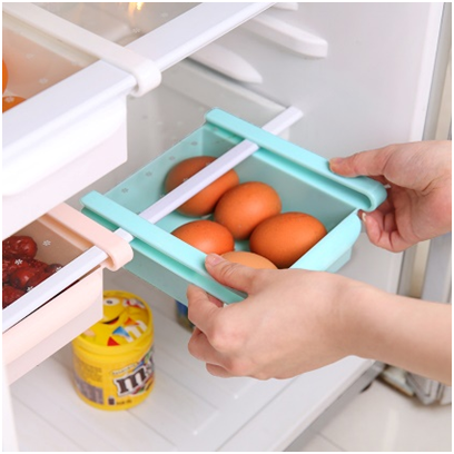 Органайзер для холодильника Refrigerator Multifunctional Storage Box, Цвет: Бирюзовый